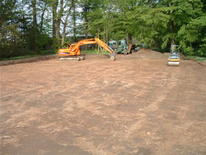 Horse Arena - Ground cleared and compacted